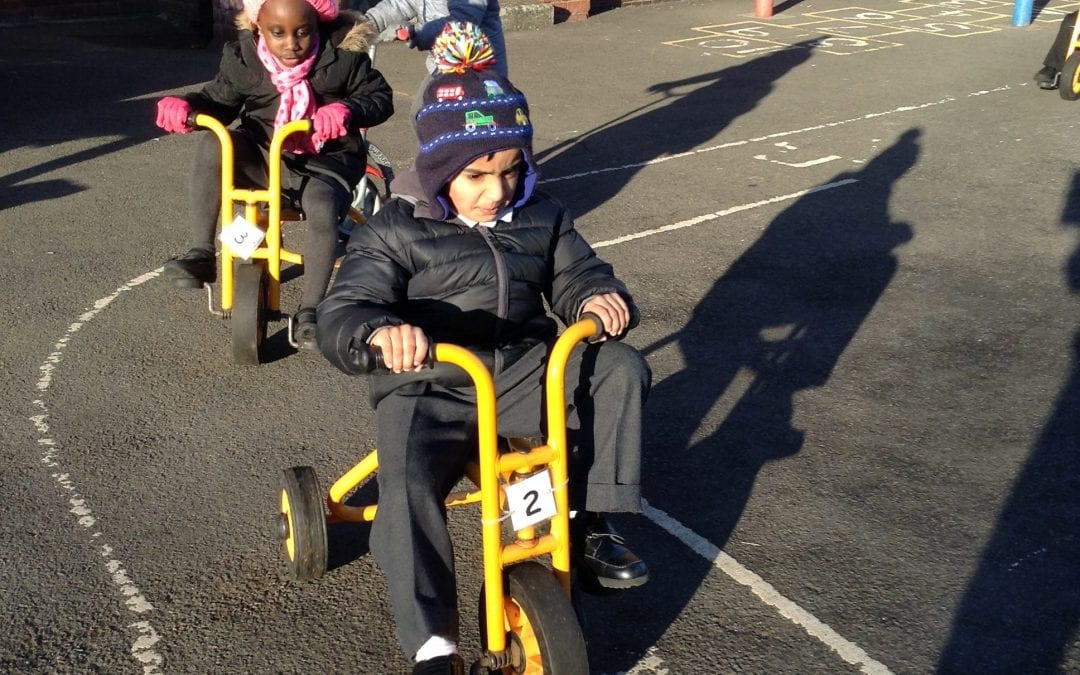 Reception Keeping Fit and Healthy!