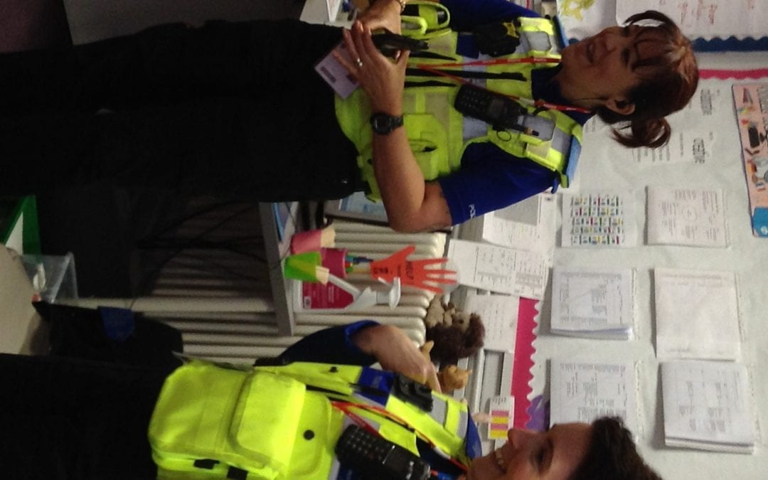 The Police visit Reception